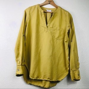 Loft Lou & Grey Mustard Yellow Tunic Blouse